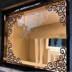 Showcase Glass Window Angle Background Decoration Removable Mirror Stickers Window Decals