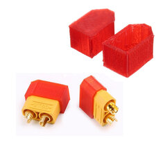 2Pcs AMASS XT60 XT90-S Anti-spark TPU Plug Protect Cover 3D Printing for RC Model Cable