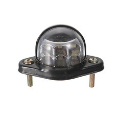 12V 6LEDs Number Plate License Light Reflector For Motorcycle Trailer Truck Lorry