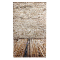 3x5ft 90x150cm Vinyl Cream Coloured Wooden Floor Brick Studio Prop Photography Backdrop
