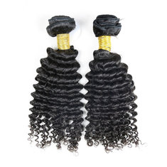 6A Grade Brazilian Virgin Unprocessed Deep Curly 100% Real Human Hair Extension