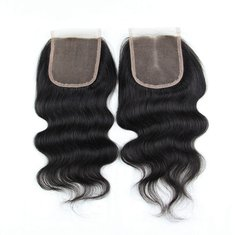 7A 4X4 Virgin Hair Lace Closure Chinese Human Hair Body Wave Closures Free Middle 3 Part