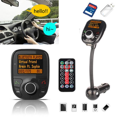 Bluetooth Car Auto Hands Free FM Transimittervs Modulator TF MP3 Player USB Charger