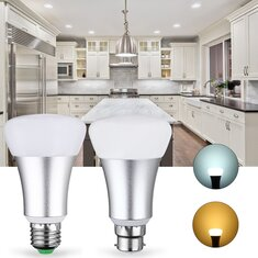 E27 B22 7W SMD5730 Warm White Pure White Light Control LED Bulb Energy Saving AC85-265V