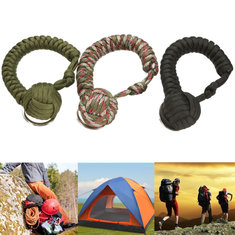 Outdoor Survival Stainless Steel Ball Key Holder Keychian Ring