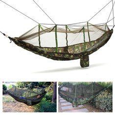 IPRee™ Outdoor Portable Camping Jungle Parachute Hammock Tent Hanging Bed With Mosquito Net