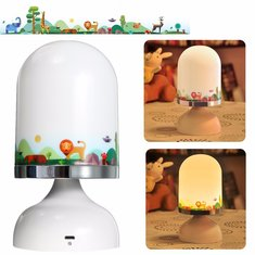 Portable USB Rechargeable LED Night Light Hanging Stand Table Vibration Sensor Lamp