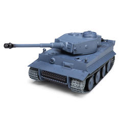 Heng Long 3818-1 1/16 2.4G Smoking German Tiger I RC Car Battle Tank With Sound Metal Gear Toys