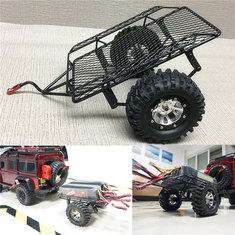 Yeah Racing 1/10 Scale RC Crawler Metal Drag Chain Metal Leaf Spring Hitch Mount Tow Trailer YA-0405