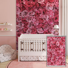 PAG Rose Romantic Window Curtain Roller Shutters Print Painting Wall Decor Roller Blind Background