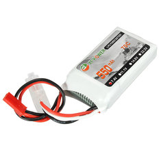 XF Power 7.4V 550mah 70C 2S Lipo Battery JST Plug