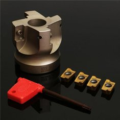 BAP 400R-50-22-4F Indexable Face End Mill Cutter with Spanner and 4pcs APMT1604 Carbide Iinserts