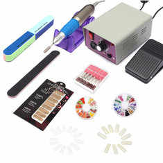 Professional Electric Acrylic Nail Art File Drill Manicure Tool Pedicure Machine Set Kit
