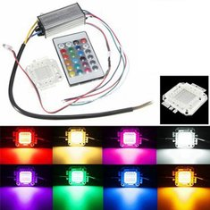 10W RGB Chip Light Bulb Waterproof LED Driver Power Supply with Remote Controller