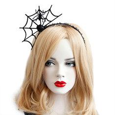 Halloween Party Spider Web Headbrandds Toys Gothic Punk Girl Tiara Fashion Lace Hair Ornaments