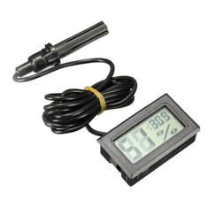 Black LCD Digital Thermometer Hygrometer Humidity Temp Temperature Monitor