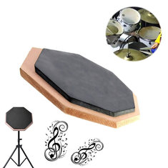 6 inch Dumb Pad Exercise Mat Blow Plate Drummer Rubber Double Side Soft Black