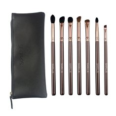 SIXPLUS 7 Pcs Eye Shadow Foundation Makeup Brushes Set Tools Cosmetic Brush Holder Bag Kit