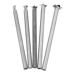 HILDA 5Pcs 3-8mm Milling Cutters White Steel Star Shaped Wood Carving Knives  3mm Shank