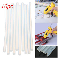 10pcs 180mm x 7mm Hot Clear Melt Glue Adhesive Sticks For Glue Gun