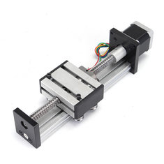 100mm Long Stage Actuator 1204 Ball Screw Linear Slide Rail Guide With 42mm Stepper Motor