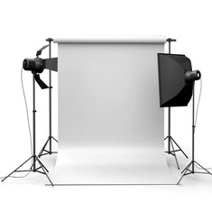 90x150cm 3x5ft Pure White Vinyl Studio Photography Backdrop Props Background