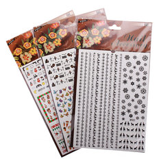 Multi Style Water Transfer Nail Art Sticker Halloween Christmas Decals