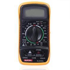 EXCEL XL830L LCD Digital Voltmeter Ohmmeter Ammeter OHM Multimeter Tester
