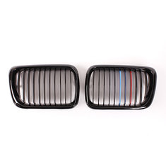 Front Gloss Black M Style Kidney Grille Grill For BMW E36 97-99