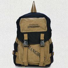 Мужчины женщины буквы печать холст рюкзак случайные мешок школы