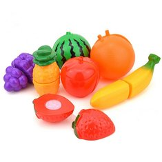 Plastic Kitchen Food Fruit Vegetable Cutting Kid Pretend Play Educational Toy
