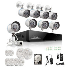 Zmodo 8CH ZP-KC1T08-S 720P PoE NVR HD Security IR Network Camera System 1TB HDD