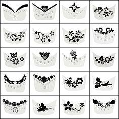 15pcs 3D Rhinestone Flower Butterfly Decorations Nail Art Stickers