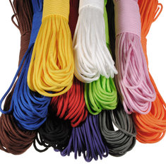 100FT 550lb Nylon Paracord Parachute Cord String Rope for Camping Hiking Survival