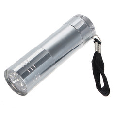 9 LED Pocket Aluminium Torch Flashlight Camping Light Lamp AAA