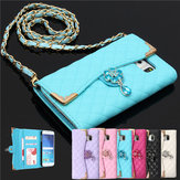 Bling Diamond Leather Handbag Wallet Cover Case For Samsung Galaxy S6