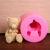 Lovely 3D Teddy Bear Silicone Mold Fondant Chocolate Soap Mould