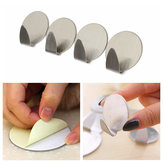 4 PCS Stainless Steel Self Adhesive Hook Traceless Strong Sticky