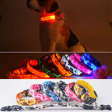 L Pet Dog LED Collar Nylon Safety Light-up Flashing Collar
