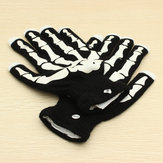 Halloween Party Glow LED Gloves With Gemmy Skeleton