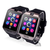 Q18 Sleep Monitor Pedometer Camera SMS SIM TF Card Bluetooth Smart Watch For IOS Android