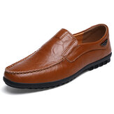 Flat Shoes Men Casual Business Loafers In Leather