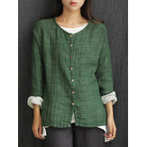 Original Mori Girl Vintage Pure Color Button Up Cardigan Shirt