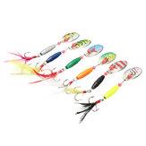 ZANLURE 6PCS 9CM Spoon Metal Fishing Lures Spinner Baits CrankBaits Hooks Baits Tackle Tools
