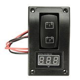 12V LED Voltage Voltmeter Marine Boat Battery Test Panel Rocker Switch Caravan Car
