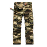 Mens Camouflage Outdoor Sports Pants Casual Military Cotton Multi-pocket Cargo Pants