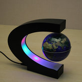 C Shape Magnetic Levitation Floating Globe World Map With LED Lights