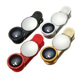 Universal 3 in1 Wide Angle Macro Fisheye Camera Lens with Mirror for Xiaomi Samsung iPhone