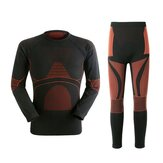 Mens Warm Breathable Thermal Quick Dry Tight Elastic Underwear Winter Outdoor Sport Suit