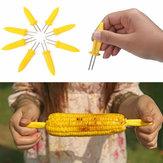 8Pcs Corn Picks Set Corncob Holders Corn Pin Corn Fork BBQ Tools Grilling Accessories